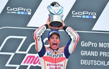 Márquez gana el Gran Premio de Alemania