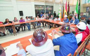 Central Obrera de Santa Cruz fortalece lazos con el presidente Morales
