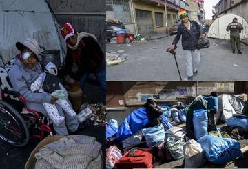 Discapacitados se van de la ciudad de La Paz con lágrimas y aplausos