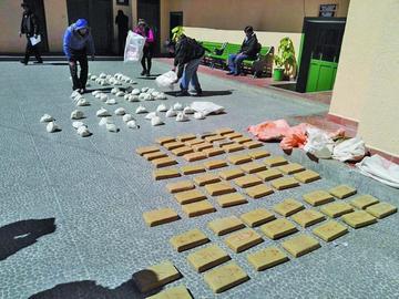 Confiscan más de 120 kilos de droga en dos operativos