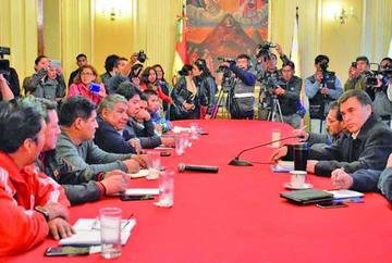 Gobierno invita a reinstalar mesas de trabajo a la COB