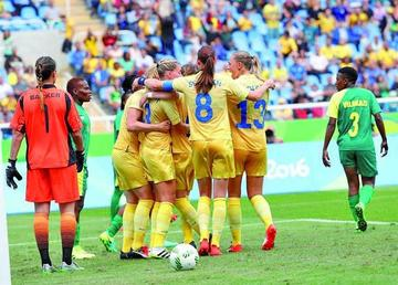 Los JJ.OO. empiezan con triunfo de Suecia ante Sudáfrica