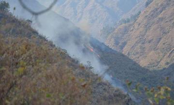 Fuego en el Tunari afecta más 5 mil hectáreas de vegetación