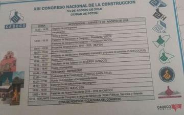 Postergan congreso de las cámaras de construcción