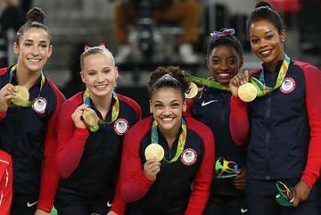 Estados Unidos logra oro en gimnasia en los JJ.OO.