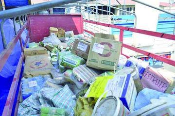 Destruyen 8 toneladas de productos de contrabando