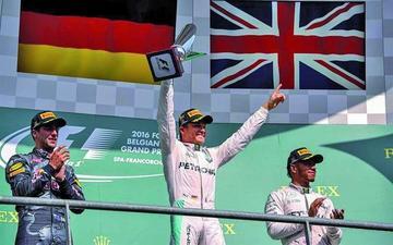 Rosberg gana el Gran Premio de Bélgica de Fórmula Uno