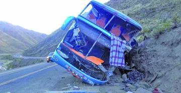 Tránsito reporta dos muertos tras grave accidente en Challapata