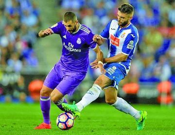 Real Madrid vence de visitante a Espanyol