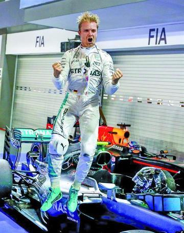 Rosberg gana el GP de Singapur