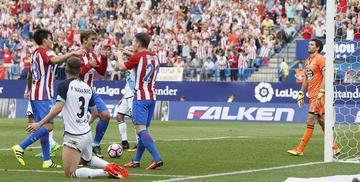 Griezmann y Gameiro le dan el triunfo al Atlético