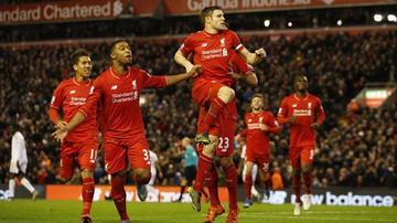 Liverpool vence a Swansea y se ubica en el segundo lugar