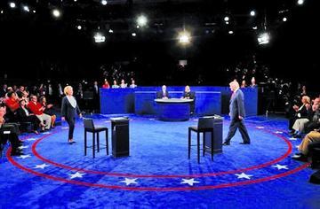 Ataques recurrentes tensaron el segundo debate presidencial en EE.UU.