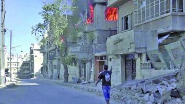 Anuncian salida de civiles sirios por corredores humanitarios