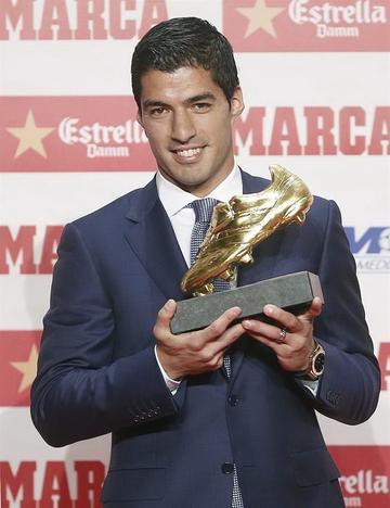 Suárez recibe su segunda Bota de Oro