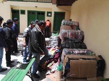 Felcn no halla droga entre ropa usada en Potosí