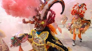 Primer convite suelta a diablos de Oruro 2017