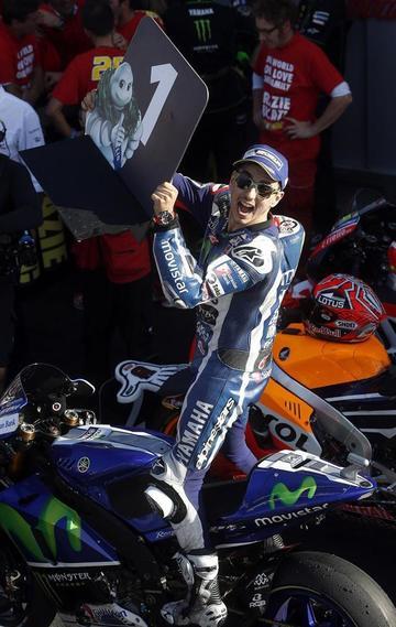 Lorenzo vence en el GP de la Comunidad Valenciana