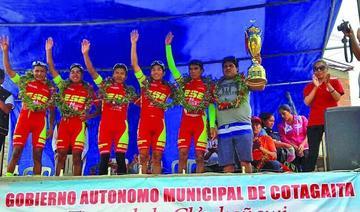 El equipo ESE Team, de Tarija, alcanza el primer lugar en la prueba de ciclismo