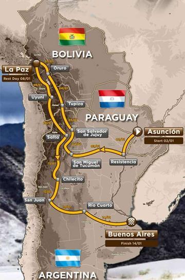 Mira el recorrido del rali y su paso por Bolivia
