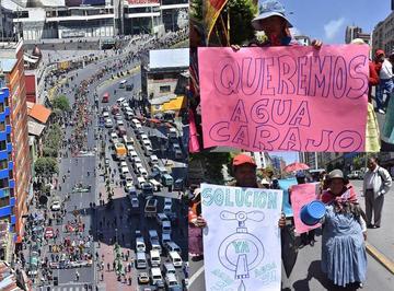 """El Alto advierte con una """"guerra del agua"""" por racionamientos"""