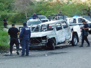 Agentes de la Procuraduría de México fueron calcinados vivos