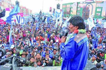 El MAS definirá en 2018 quién acompañará al presidente Evo