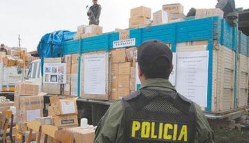 Decomisan mercadería valuada en 5.5 millones de Bolivianos