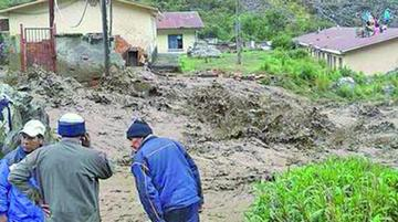 Hay 1.700 familias afectadas por las lluvias en 5 departamentos