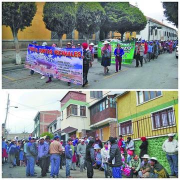 Marcha de padres exige crear 18 ítems para escuela Hugo Chávez