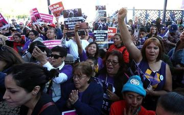 Los inmigrantes están en pie de lucha contra la política de Trump