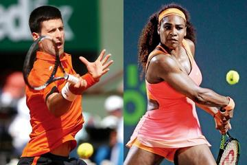 Djokovic y Serena muestran sus fuerzas