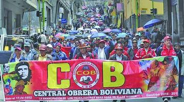 La COB se reúne en Sucre por restitución del preaviso