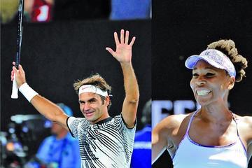 Venus y Federer pasan a semifinales