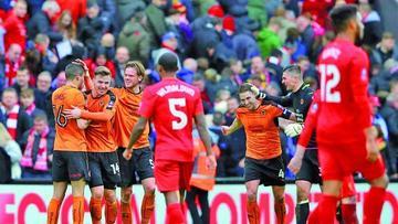 Liverpool es eliminado por un equipo de segunda división