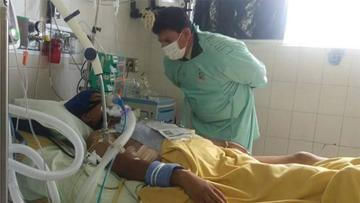 Sargento héroe sufre paro cardiaco y le reaniman
