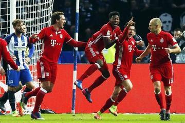 Bayern empata con gol de Lewandowski