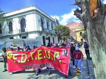 El magisterio urbano prepara  marcha de protesta a La Paz