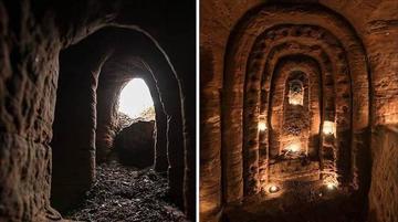 Hallan un templo oculto de 300 años
