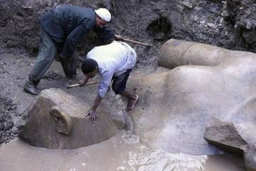 Descubren la estatua que representa a Ramsés II