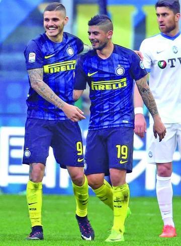 Inter golea a Atalanta en la Serie A italiana