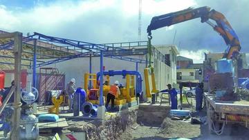 Avanza instalación de dos bombas para llevar agua