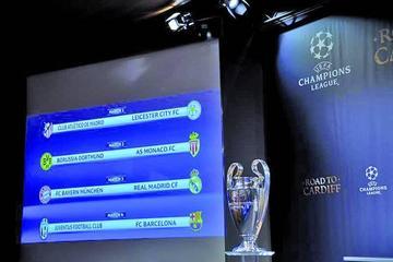 La UEFA define los partidos de los cuartos de final