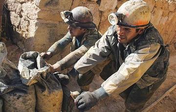 Los cooperativistas retoman sus labores de extracción de mineral