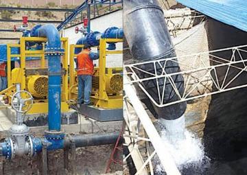 Inicia bombeo de agua del río San Juan a la zona alta de la ciudad