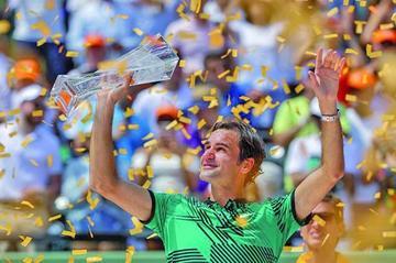 Federer gana su tercer título en Miami