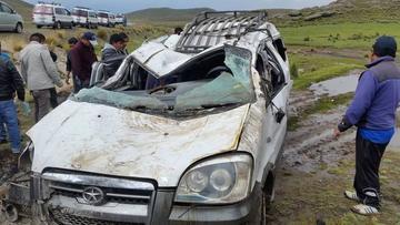 Reportan 14 heridos en un accidente en el norte potosino