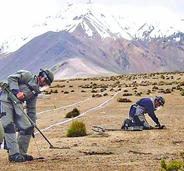 OEA pide a Chile que elimine sus minas antipersonales