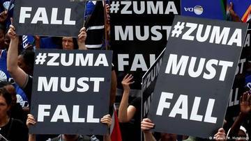 Protestas exigen la dimisión del presidente sudafricano