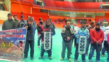 Potosí alberga el  torneo nacional de futsal de la administración pública
